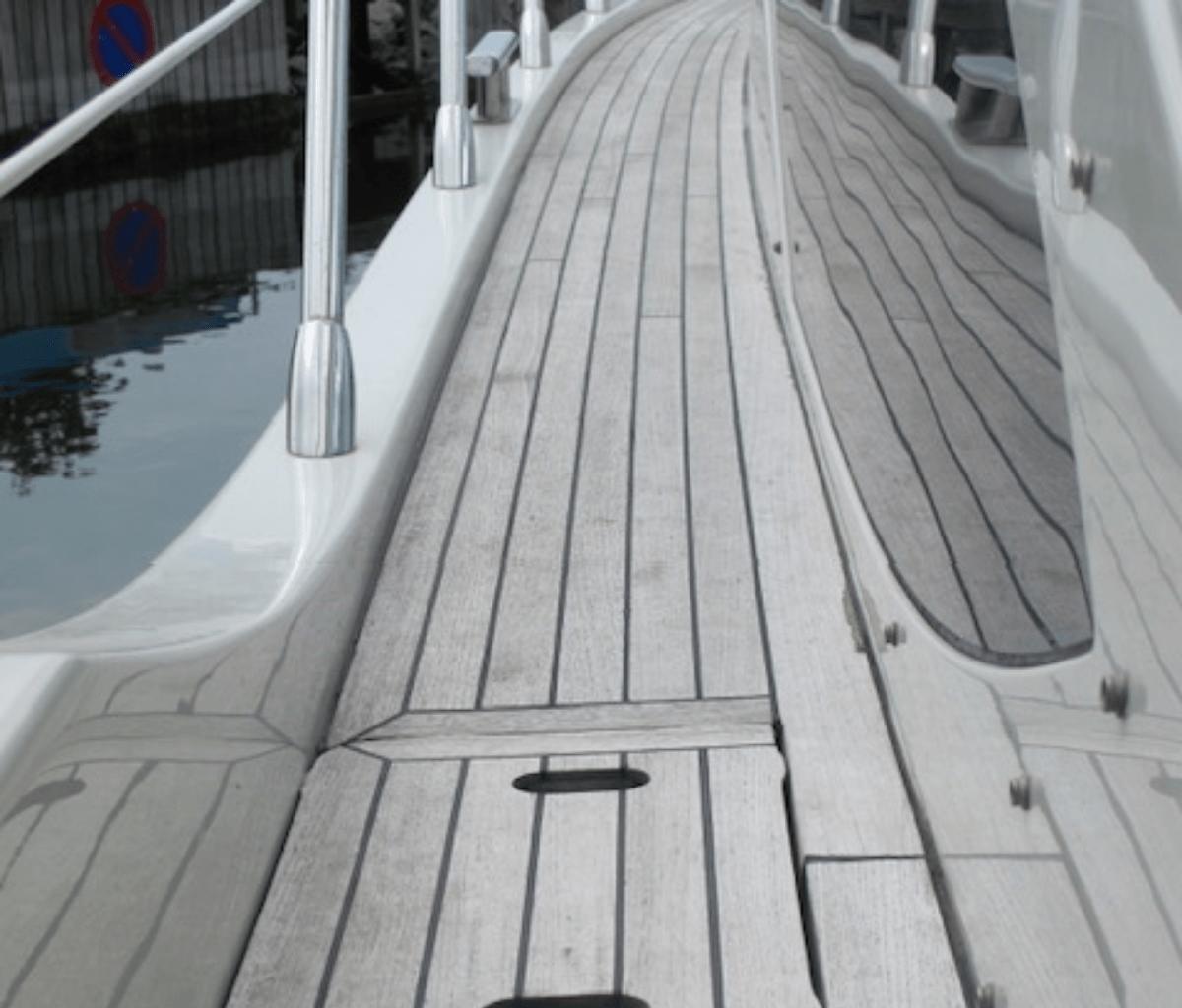 Skibsdæk træ rens